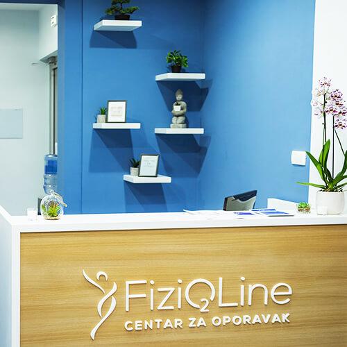 Prijemni pult centra za oporavak Fizioline
